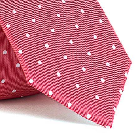 Gravata-com-desenhos-geometricos-em-poliester-Vermelha-textura-large-2