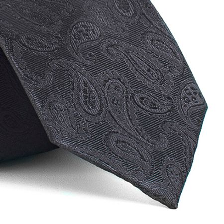 Gravata-com-desenho-cashmere-em-poliester-Preta-textura-medium