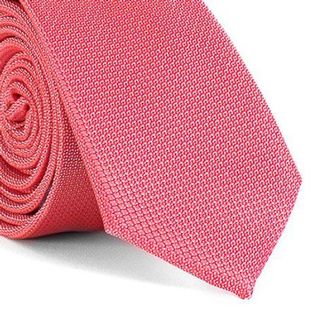 Gravata-Slim-com-desenho-falso-liso-em-poliester-Rosa-textura-small-2
