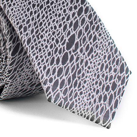 Gravata-Slim-com-desenhos-geometricos-em-poliester-Cinza-textura-medium-2