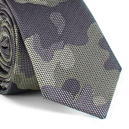 Gravata-Slim-com-desenhos-camuflado-em-poliester-verde-textura-medium
