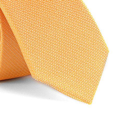 Gravata-Slim-com-desenho-falso-liso-em-poliester-Amarela-textura-small-2