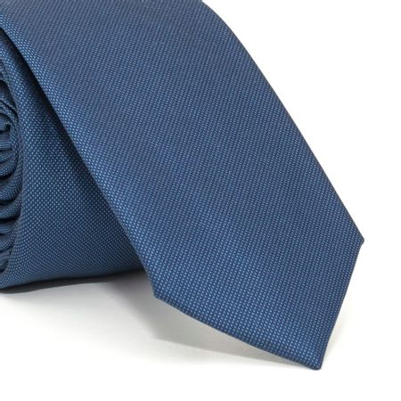 Gravata-Slim-com-desenho-falso-liso-em-poliester-azul-textura-small-6