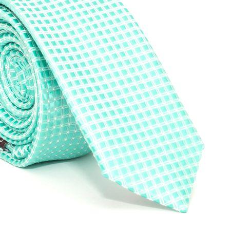 Gravata-Super-Slim-com-desenhos-geometricos-em-poliester-Verde-textura-medium