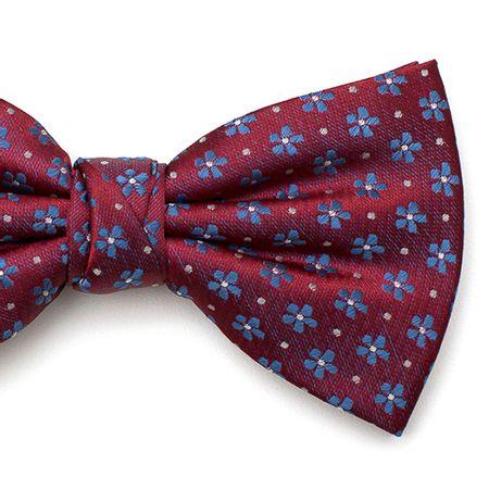 Gravata-borboleta-com-desenhos-floral-em-poliester-Vermelha-textura-medium