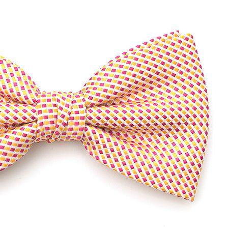 Gravata-borboleta-com-desenhos-geometricos-em-poliester-Amarela-textura-small