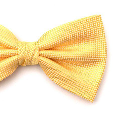 Gravata-borboleta-com-desenho-falso-liso-em-poliester-Amarela-textura-small