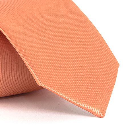 Gravata-com-desenho-falso-liso-em-poliester-Laranja-textura-small