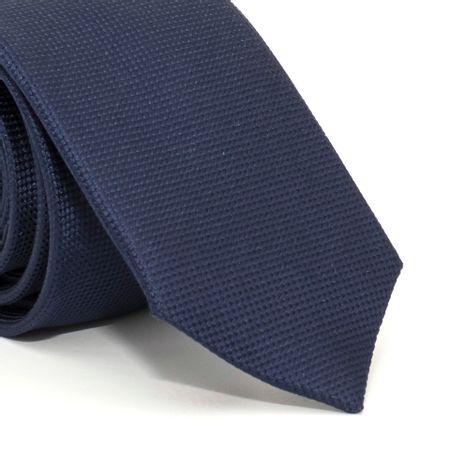 Gravata-Slim-com-desenho-falso-liso-em-seda-pura-Azul-textura-small