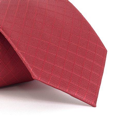 Gravata-com-desenhos-geometricos-em-poliester-Vermelha-textura-small-8