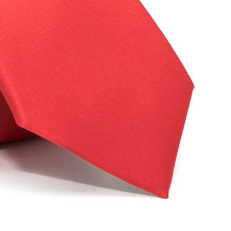 Gravata-lisa-em-poliester-basico-Vermelha-textura-1