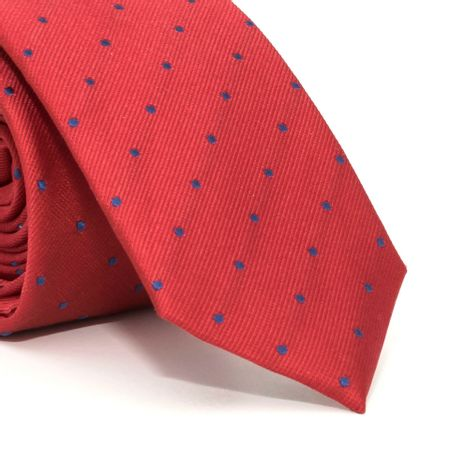 Gravata-Slim-com-desenho-geometrico-em-seda-pura-Vermelha-textura-small-2