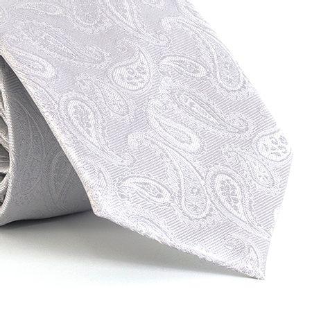 Gravata-com-desenho-cashmere-em-poliester-Prata-textura-medium