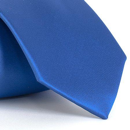 Gravata-lisa-em-poliester-Azul