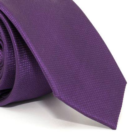 Gravata-Slim-com-desenho-falso-liso-em-seda-pura-Roxa-textura-small