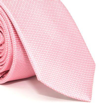Gravata-Slim-com-desenho-falso-liso-em-seda-pura-Rosa-textura-small-1