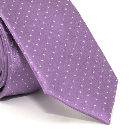 Gravata-Slim-com-desenho-geometrico-em-seda-pura-Roxa-textura-small