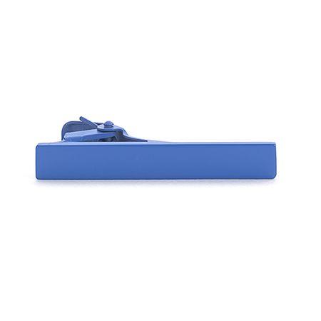 Prendedor-de-gravata-azul-liso-formato-retangular