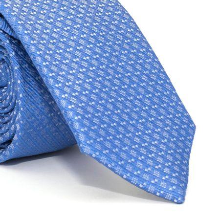 Gravata-Slim-com-desenho-geometrico-em-seda-pura-Azul-textura-small-6