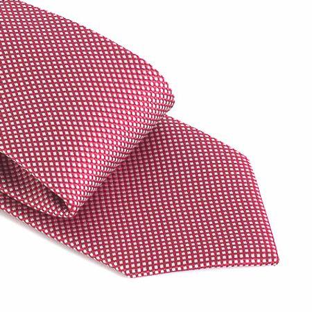 Gravata-com-no-pronto-desenho-geometrico-em-poliester-Vermelha-textura-small