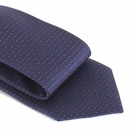Gravata-com-no-pronto-desenho-geometrico-em-poliester-Azul-textura-small-2