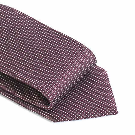Gravata-com-no-pronto-desenho-geometrico-em-poliester-Roxa-textura-small