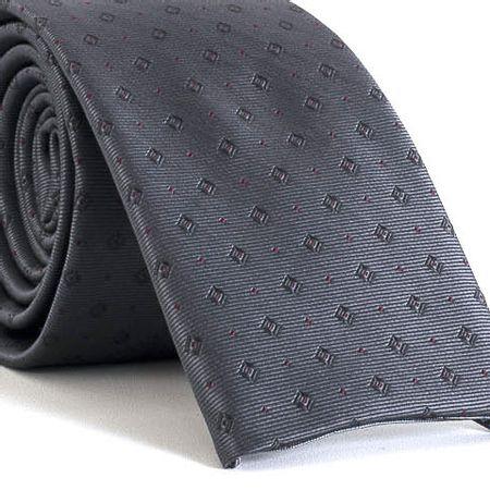 Gravata-Slim-bico-quadrado-com-desenhos-geometricos-em-poliester-Cinza-textura-small-3