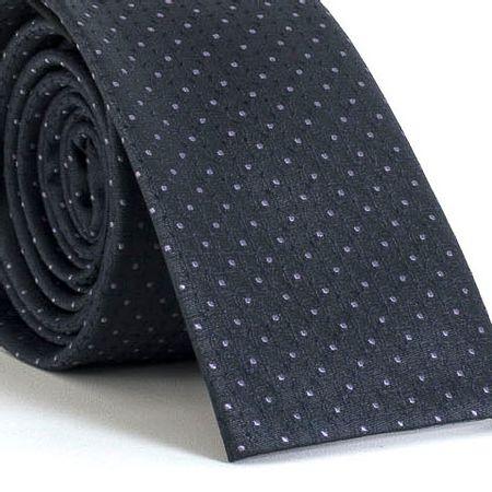 Gravata-Slim-bico-quadrado-com-desenhos-geometricos-em-poliester-Cinza-textura-small-4