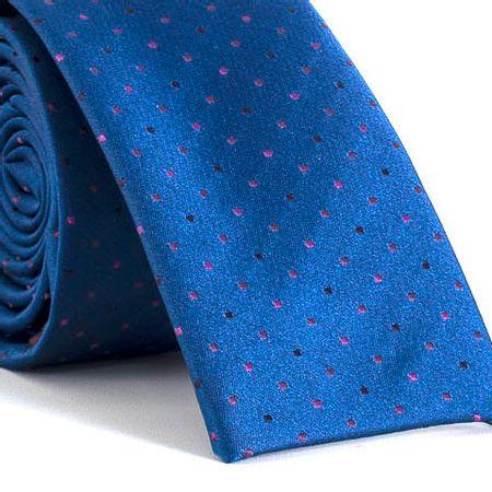 Gravata-Slim-bico-quadrado-com-desenhos-geometricos-em-poliester-Azul-textura-small