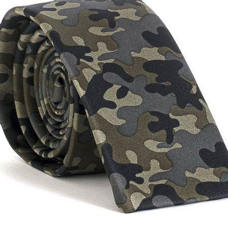 Gravata-Slim-bico-quadrado-com-desenho-camuflado-em-seda-pura-Verde-textura-small