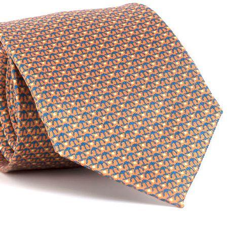 Gravata-estampada-em-seda-pura-com-desenho-geometrico-na-cor-Laranja-textura-small