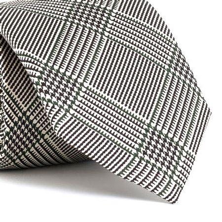 Gravata-estampada-em-seda-pura-com-desenho-geometrico-na-cor-Branca-textura-large-2