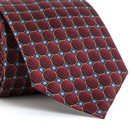 Gravata-estampada-em-seda-pura-com-desenho-geometrico-na-cor-Vermelha-textura-large-2