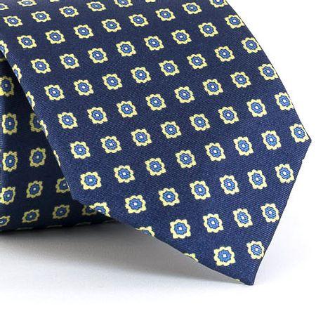 Gravata-estampada-em-seda-pura-com-desenho-geometrico-na-cor-Azul-textura-medium-2