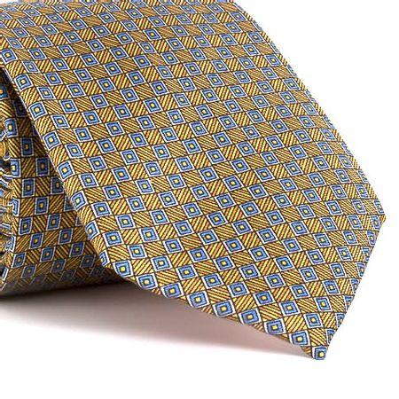 Gravata-estampada-em-seda-pura-com-desenho-geometrico-na-cor-Amarela-textura-medium-2
