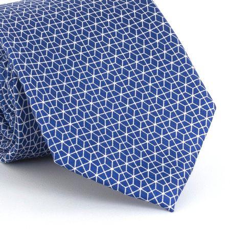 Gravata-estampada-em-seda-pura-com-desenho-geometrico-na-cor-Azul-textura-medium-4