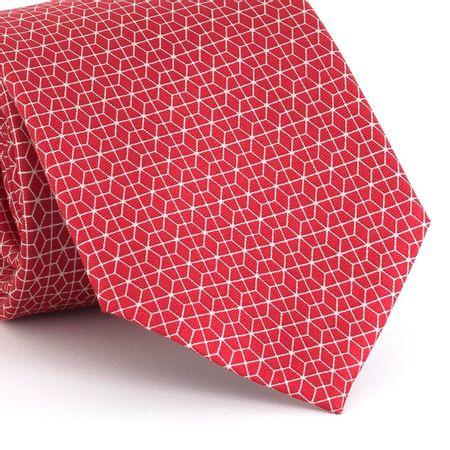Gravata-estampada-em-seda-pura-com-desenho-geometrico-na-cor-Vermelha-textura-medium-2