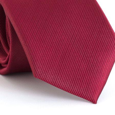 Gravata-com-desenho-falso-liso-em-poliester-Vermelha-textura-small-6