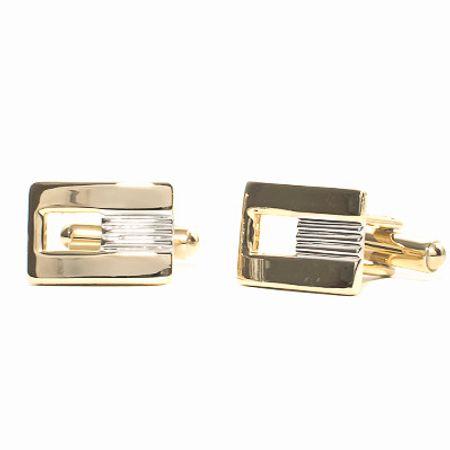 Abotoadura-na-cor-dourada-formato-retangular-e-detalhe-na-cor-prata