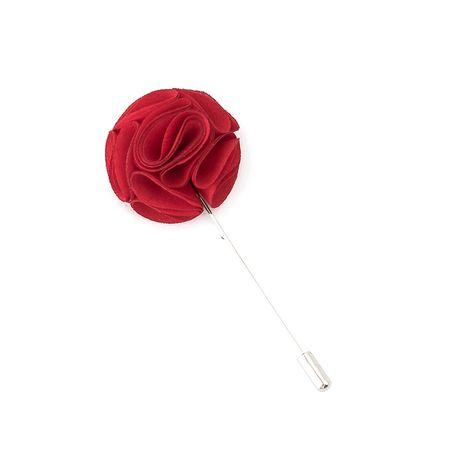 Pino-de-lapela-vermelho-formato-de-flor