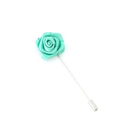 Pino-de-lapela-verde-bandeira-formato-de-flor-rosa