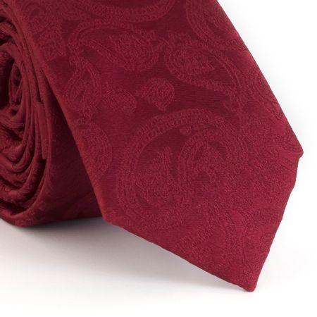 Gravata-Slim--com-desenho-cashmere-em-poliester-vinho