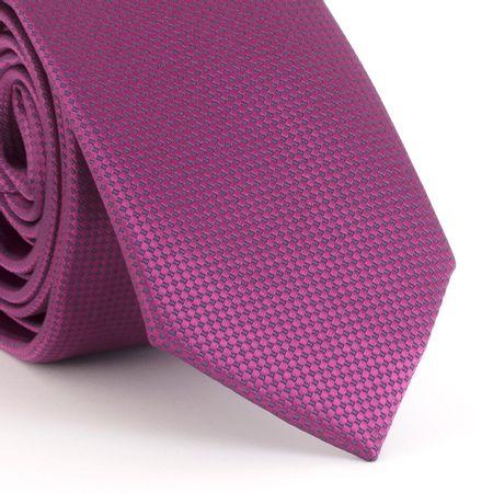Gravata-Slim--com-desenho-geometrico-quadriculado-rosa-pink