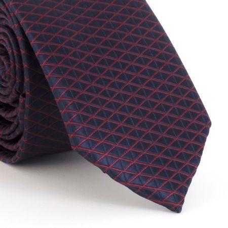 Gravata-Slim--com-desenho-geometrico-quadriculado-em-poliester-roxo