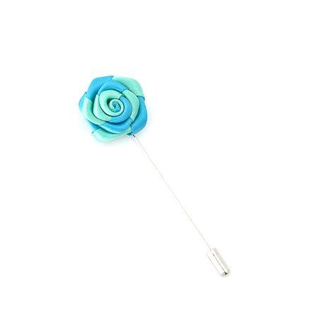 Pino-de-lapela-azul-claro-e-verde-agua-em-formato-de-flor-rosa