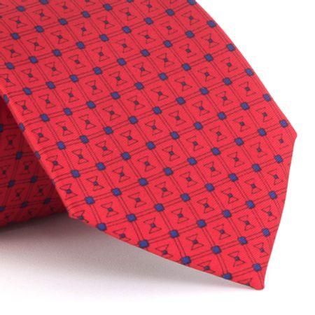 Gravata-estampada-em-seda-pura-vermelho-com-detalhe-marinho