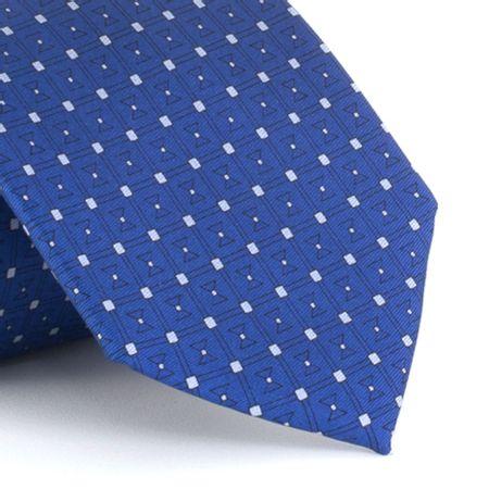 Gravata-estampada-em-seda-pura-Azul-com-detalhe-Cinza