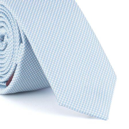 Gravata-Super-Slim-em-poliester-texturizada-azul-claro-com-fundo-branco