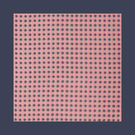 Lenco-de-bolso-com-desenho-floral-em-poliester-marinho-e-rosa