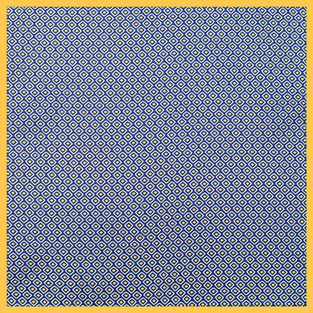 Lenco-de-bolso-com-desenho-geometrico-em-poliester-marinho-branco-e-amarelo